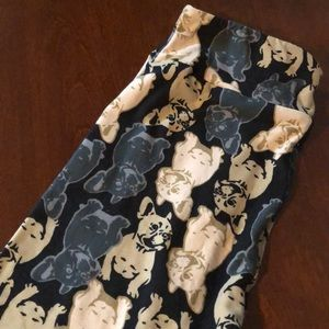 LulaRoe OS French Bulldog Leggings